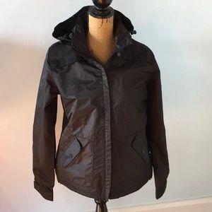 Clique black fleece lined wind/rain jacket youth L